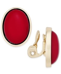 Charter Club Gold Tone Colored Stone Clip On Stud Earrings Only At Macy's