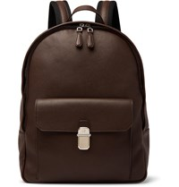 Dunhill Belgrave Full Grain Leather Backpack Brown