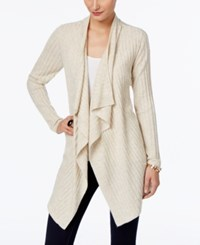 Inc International Concepts Draped Open Front Cardigan Only At Macy's Heather Sandune