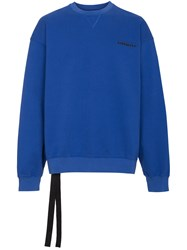 Unravel Project Blue Terry Crew Neck Sweatshirt