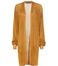 Haider Ackermann Open Front Cardigan Gold