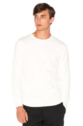 Reigning Champ Scalloped L S Crewneck White