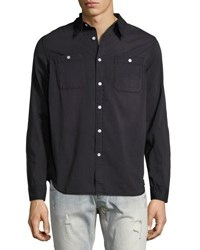 One Teaspoon Liberty Cotton Denim Shirt Black
