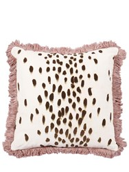 Poodle And Blonde Square Tottenham Dalmatian Pillow Multicolor