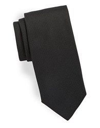 Hugo Pin Dot Silk Tie Black