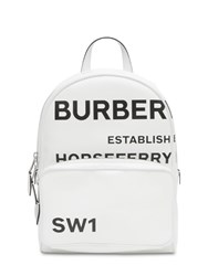 Burberry Tb Printed Logo Coated Canvas Backpack White