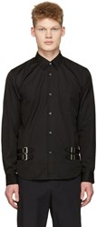 Comme Des Garcons Shirt Black Double Belt Shirt