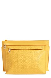 Loewe Embossed Crossbody Pouch Yellow