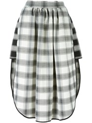 Vivienne Westwood Anglomania Grid Check Asymmetric Skirt Black