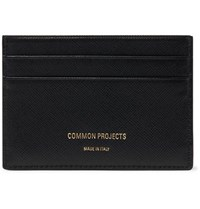 Common Projects Cross Grain Leather Cardholder Black