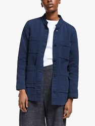 Eileen Fisher Textured Collarless Jacket Midnight
