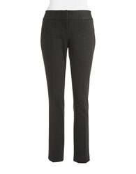 Vince Camuto Petite Flat Front Ankle Pants Dark Heather Grey