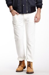 Stitch's Jeans Texas Straight Leg Pant White