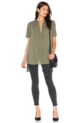 Bcbgeneration Slit Back Tunic Olive