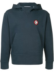 Cerruti 1881 Logo Hooded Sweatshirt Blue