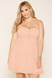 Forever 21 Plus Size Strapless Lace Dress