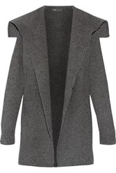 Vince Paneled Wool Blend Cardigan Charcoal