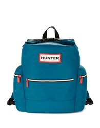 Hunter Top Handle And Clip Nylon Backpack Ocean Blue