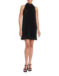 Erin Fetherston Pleated Lace Shift Dress Black
