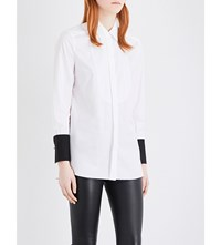 By Malene Birger Jeronia Contrast Cuff Cotton Shirt Pure White