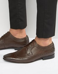 Frank Wright Brogue Wing Tip Shoes In Brown Brown