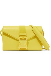 Christopher Kane Devine Textured Leather Shoulder Bag Yellow