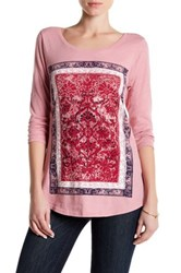 Lucky Brand Long Sleeve Placement Print Tee Purple