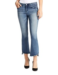William Rast Flared Cropped Jeans Blue