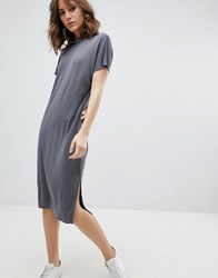 Selected Femme Oversized T Shirt Dress Grey