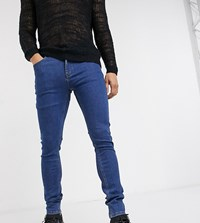 Heart And Dagger Super Skinny Jeans In Mid Blue Wash