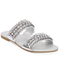 G By Guess Luxeen Flat Sandals Women's Shoes Silver