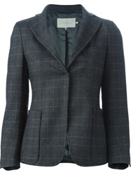 L'autre Chose Checked Blazer Grey