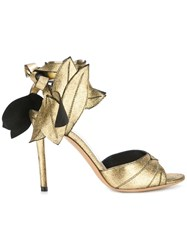Vivienne Westwood Leaf Sandals Metallic