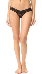 Hanky Panky Sweetheart Mesh Low Rise Thong Black