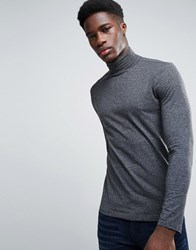 New Look Long Sleeve Roll Neck Top In Gray Gray