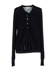 Manila Grace Denim Cardigans Dark Blue