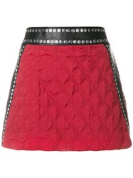 Alyx Quilted Pelmet Skirt Leather Cupro Viscose S Red