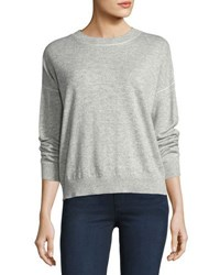 Theory Criselle Drop Shoulder Crewneck Sweater Gray