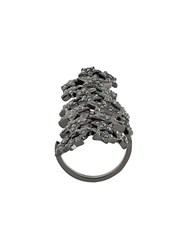 Federica Tosi Stars Knuckle Ring Black