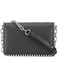 Alexander Wang Studded Chain Shoulder Bag Women Leather One Size Black