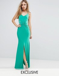 Club L Cami Maxi Dress With Knot Front Vivid Green