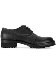 Marni Grained Leather Derby Shoes Black