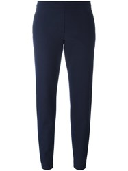Theory Cropped Flared Trousers Blue