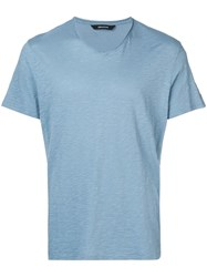 Zadig And Voltaire Terry T Shirt Blue