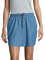 Saks Fifth Avenue Cotton Blend Denim Skirt