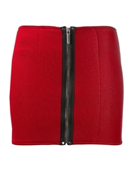 Anthony Vaccarello Fitted Mini Skirt Red