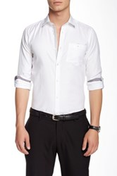 Ted Baker Champp Long Sleeve Extra Trim Fit Shirt White
