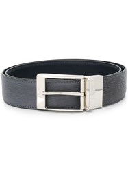 Canali Leather Belt Grey