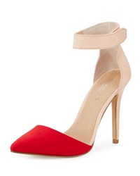 Charles By Charles David Pointer Colorblock D'orsay Pump Fire