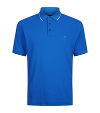 Z Zegna Logo Crest Polo Top Male Blue